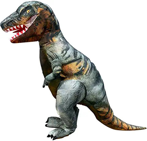 Adult T-REX Costumes Dinosaur Inflatable Costumes Blow Up Suit (Grey)