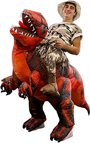 Adult and Teen Size - T-Rex, Velociraptor, Reptile Blow Up