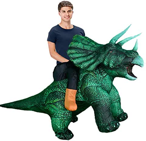 Adults Inflatable Triceratops Blow up Halloween Party Costumes