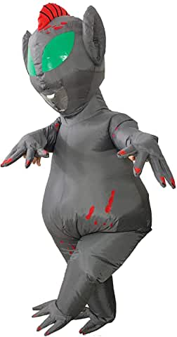GRAY Inflatable Alien Costumes FULL BODY