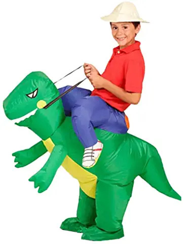Inflatable Dinosaur Riding Funny Costume Suit for Kids