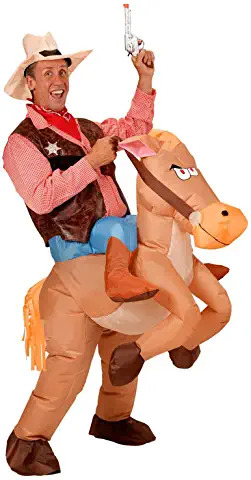 Inflatable Horse Costume Cowboy ADULTS
