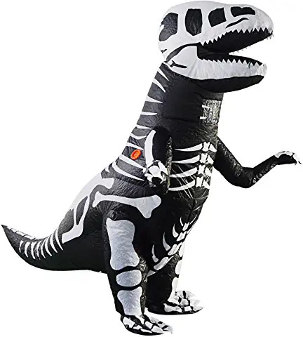 T Rex Dinosaur Inflatable Costume Giant Skeleton FOR ADULTS