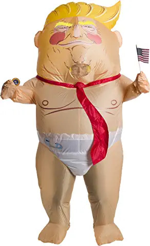 inflatable baby prez funny costume for adults