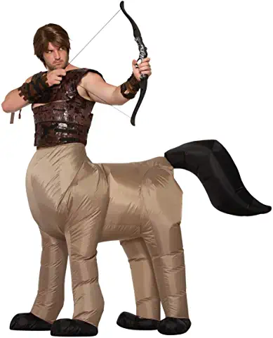 brown centaur inflatable costume for adult