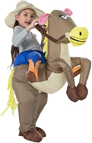 cowgirl riding horse inflatable costume