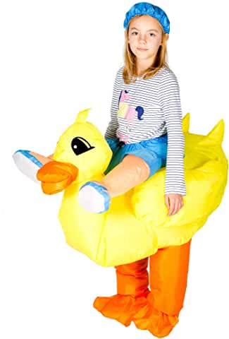 duck riding inflatable costume