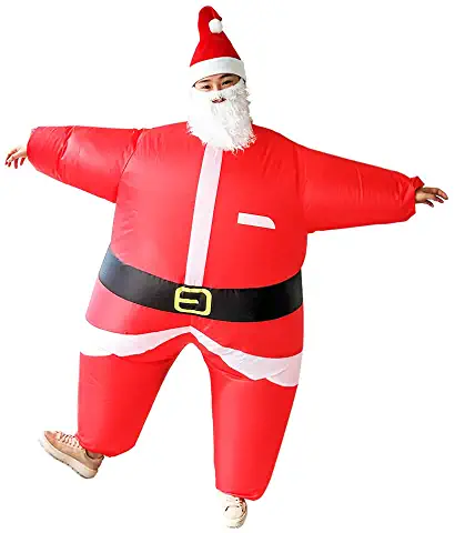inflatable full body santa claus disguise