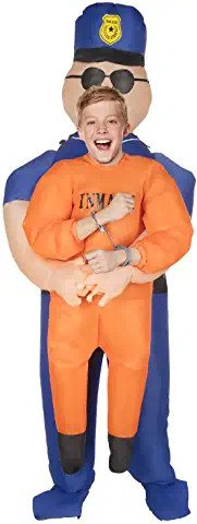 police pick me up infltable costume for kids