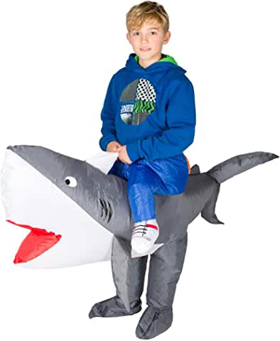 shark riding inflatable costume