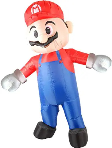 super mario bros inflatable costume ADULTS
