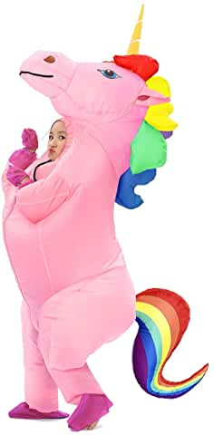 pink full size inflatable costume